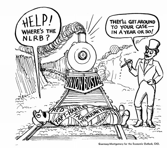 Cartoon about NLRB and union busting