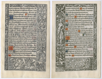 Page from a printed Latin Book of Hours
