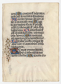 Page from Italian Book of Hours