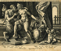 The Satyr presents gifts to Venus