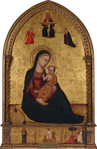 "Madonna and Child with the Holy Trinity and the Annunciation; Anonymous Martyr Saint; Resurrection, ""Noli me tangere,"""