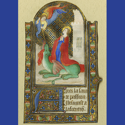 St. Margaret and the Dragon, illuminated manuscript page