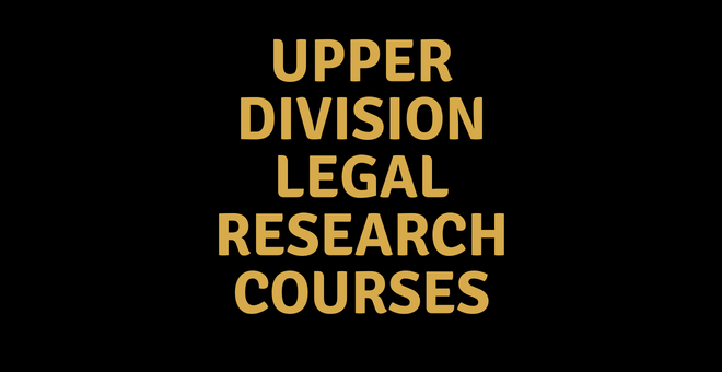 Upper Division Law Courses