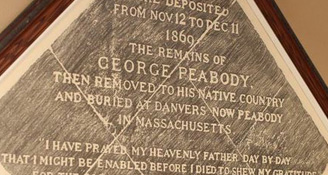 Impression of George Peabody's Gravestone